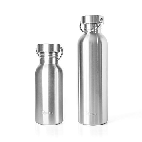 Reusable stainless stell bottle, 1L - Qwetch