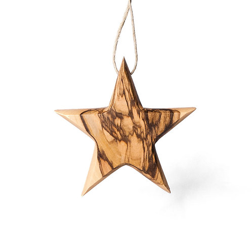 Stern aus Olivenholz - Ecodis