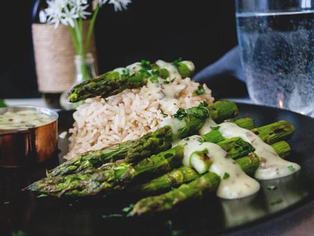 Sauce Hollondaise mit Bärlauch - Vegan,  gluten- & ölfrei
