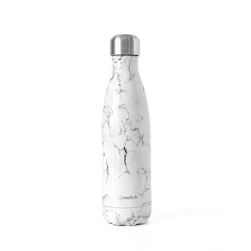 Edelstahl Isolierflasche, Qwetch, Marmoroptik, vegan, cruelty free, zero waste