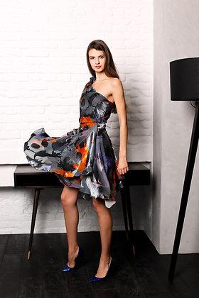 Платье из шелкового бархата