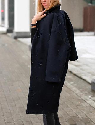 Пальто синее кашемировое