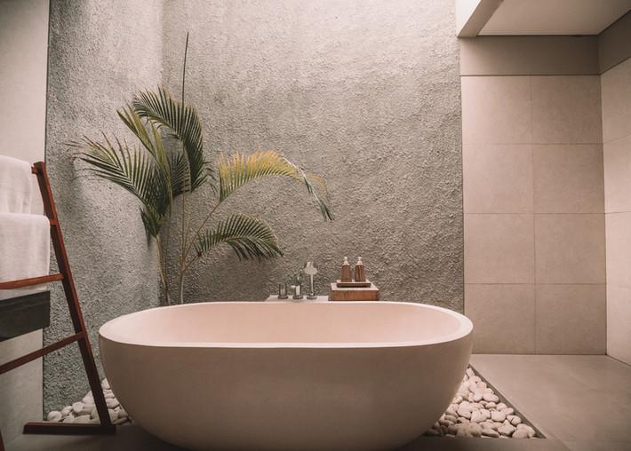 Tina de baño rosa