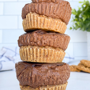 Mini Peanut Butter Banana Chocolate Pies NO BAKE (Vegan & Gluten Free)