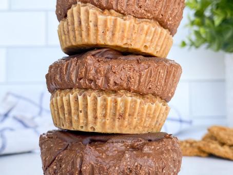 Mini Peanut Butter Banana Chocolate Pies NO BAKE (Vegan & Gluten Free)