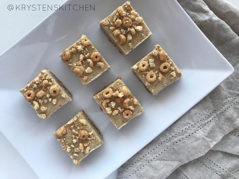 No Bake Love Grown Cinnamon Cereal Bars