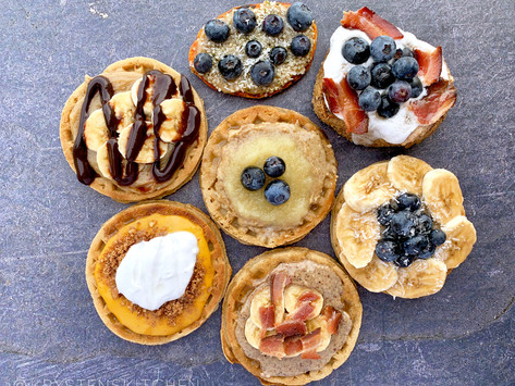 NuNaturals Pourable Syrups + Delicious Waffle Combinations, Creamers + More