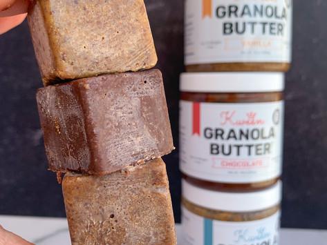 One Ingredient Freezer Fudge (Kween Granola Butter) | Top 14 Free
