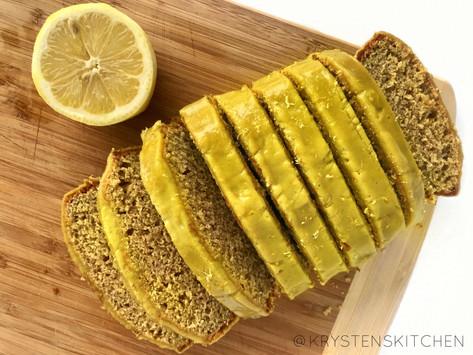 Lemon Turmeric Loaf with Lemon Frosting