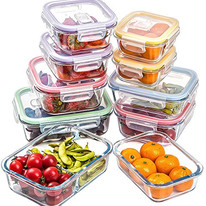 Jalousie Borosilicate Glass Food Storage Meal Saver Containers