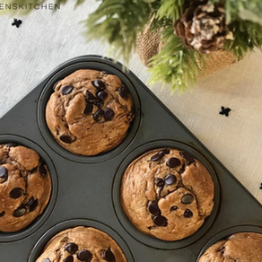 Chocolate Chip Gingerbread Muffins