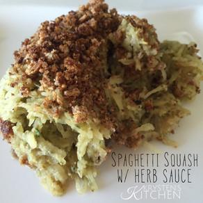 Spaghetti Squash W/ Herb Sauce