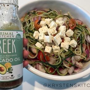 "Horiatiki ""Pasta"" Salad (Traditional Greek Salad)"