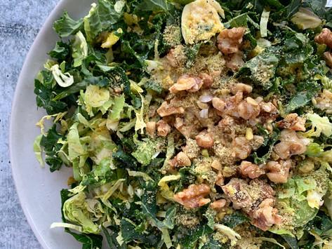 Crunchy Kale & Brussels Salad