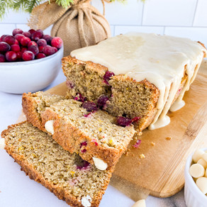 Cranberry Orange Loaf + White Chocolate (Paleo & Gluten Free)