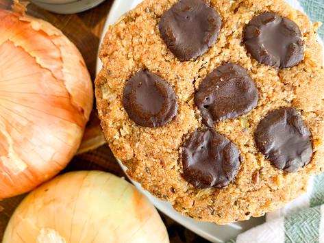 Onion Chocolate Chip Cookies (Vidalia Onions) | Paleo, Vegan & Gluten Free