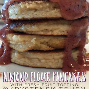 Almond Flour Pancakes w/ Fruit Topping