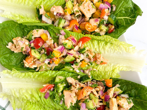 Spring Greek Tuna Salad | Blue Harbor Fish Co. (Gluten Free, Paleo, Egg & Dairy Free)