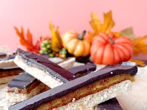 Pumpkin Spice Twix Bars: Gluten Free | Paleo | Vegan