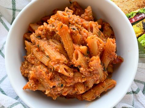 "Vegan Bolognese ""Meat Sauce"" Pasta Meal (3 Ingredients) | Gluten Free, Vegan, Allergen Friendly"