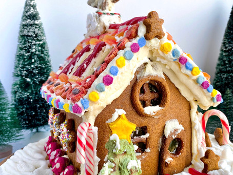 Gingerbread House + Icing (Paleo, Gluten-Free & Dairy-Free)