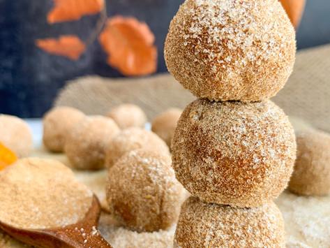 Pumpkin Spice Donut Holes - No bake! (Paleo, Gluten Free & Vegan)