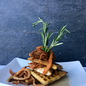 Air Fryer Gluten Free Chicken & Waffles