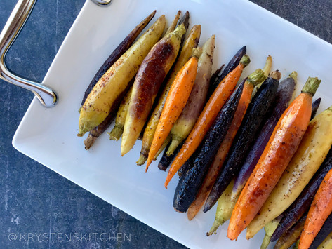 Easy Roasted Colorful Carrots