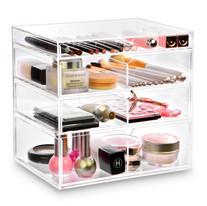 Ikee Design Acrylic Cosmetics Makeup and Jewelry Storage Case