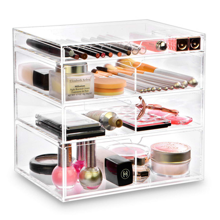 Ikee Design Acrylic Cosmetics Makeup and Jewelry Storage Case