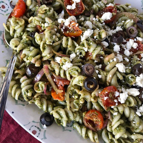 Fusilli Pasta with Homemade Pesto