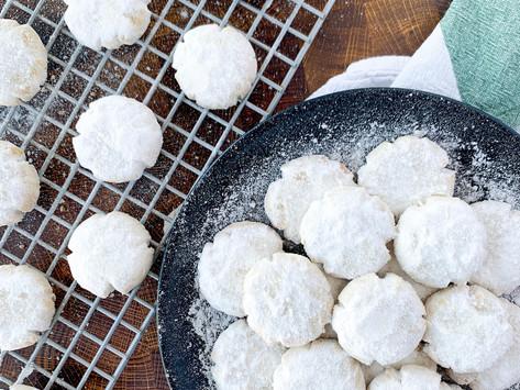 Kourambiedes - Greek Butter Cookies (Cane Sugar Free | Paleo | Gluten Free | Dairy Free)