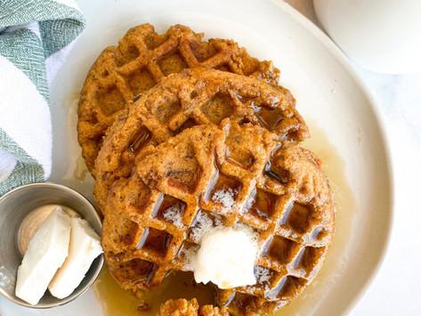 Apple Maple Pumpkin Spice Waffles | Vegan & Gluten Free
