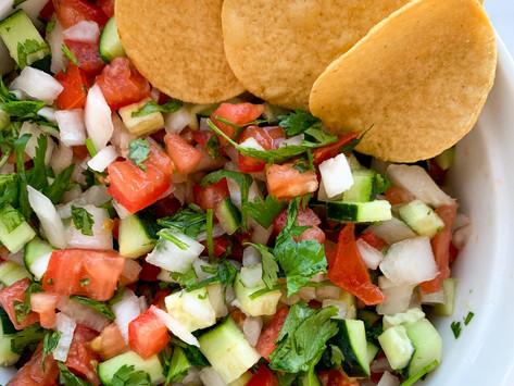 Easy Cucumber Pico de Gallo Salsa Ever | Gluten Free, Whole30, Vegan