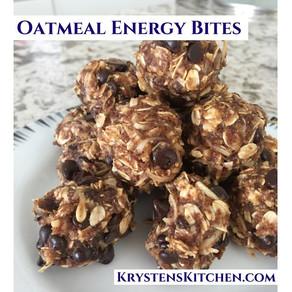Oatmeal Energy Bites (No Bake)