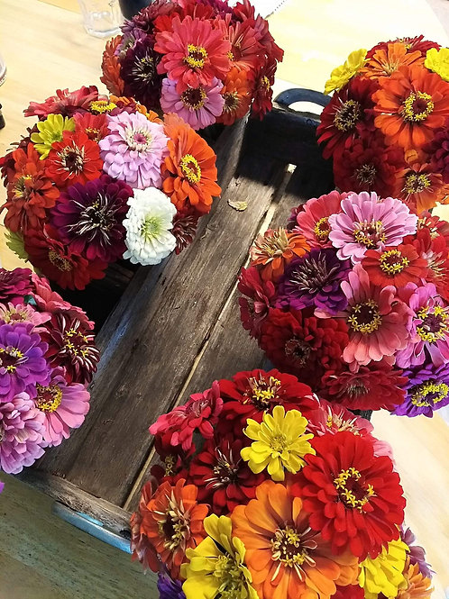 Zinnia Mason Jar Bouquet