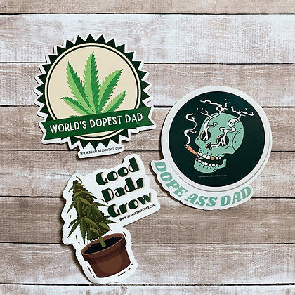Canna Dad Stickers
