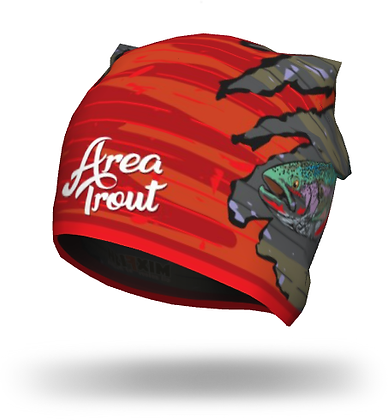 Шапка Area Trout red