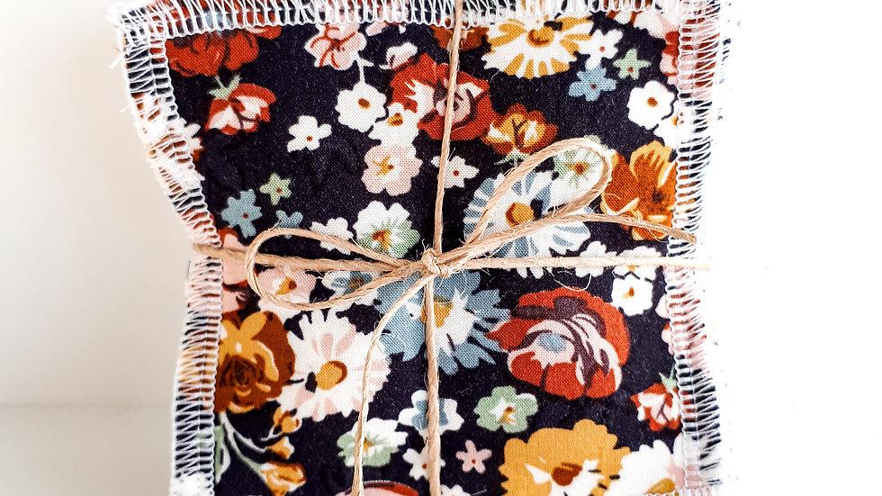 Brooksies - Face Sqaures Dark Floral