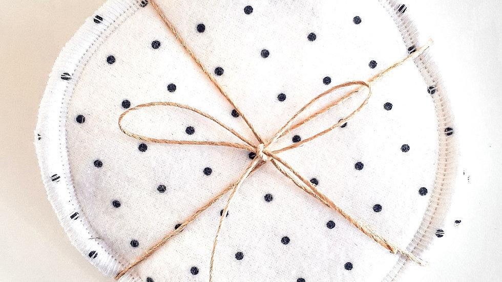 Brooksies - Nursing Pads 3 pairs White and Black Spot