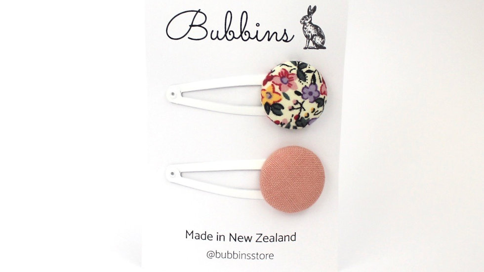 Bubbins - Snap Clips Pink and Molly