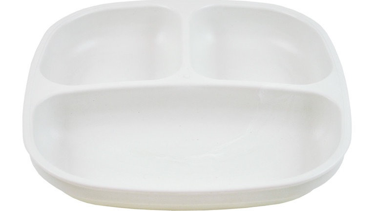 Replay - Divided Plate White
