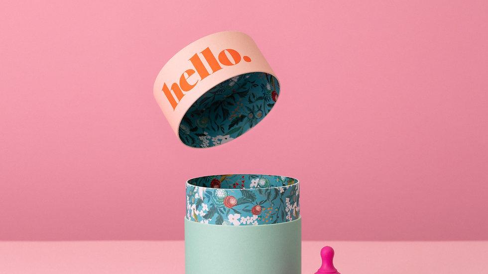 Hello Cup - L Fushia