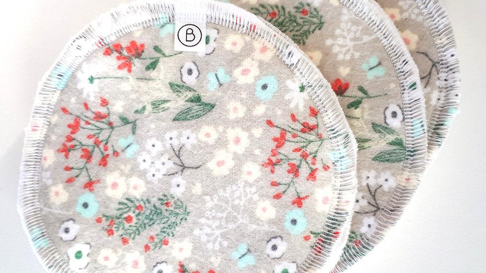 Brooksies - Nursing Pads 3 pairs Grey Floral