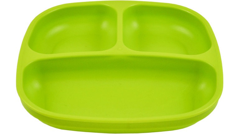 Replay - Divided Plate Green