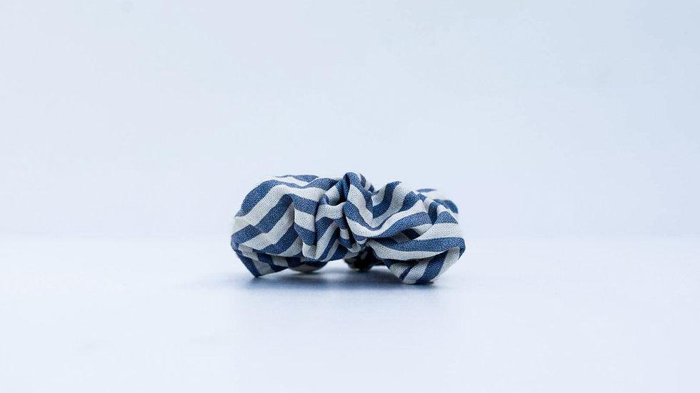 Brooksies - Mini Scrunchie Nautical Grey