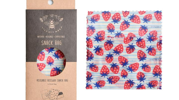 LilyBee Wraps - Snack Bag Small - Strawberry Fields