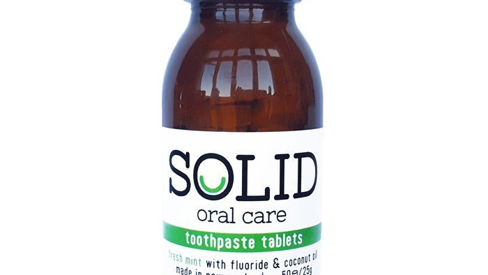 Solid Oral - Toothpaste Tablets (Fresh Mint)