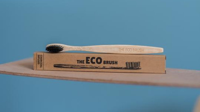 The ECO Brush - Charcoal Infused Bamboo Toothbrush