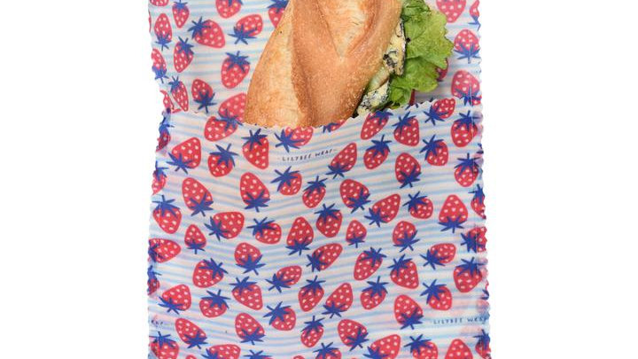 LilyBee Wraps - Sandwich Bag Large Strawberry Fields